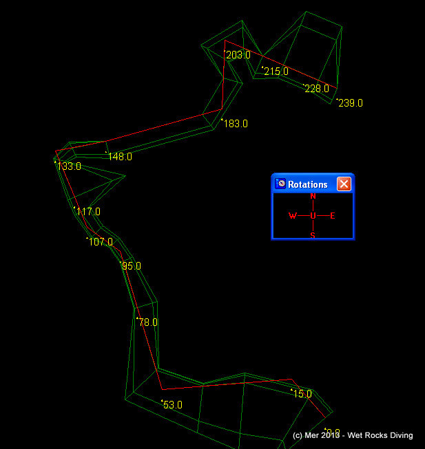 Survey Map of part of Catacombs in Devil's System (knotted line)
