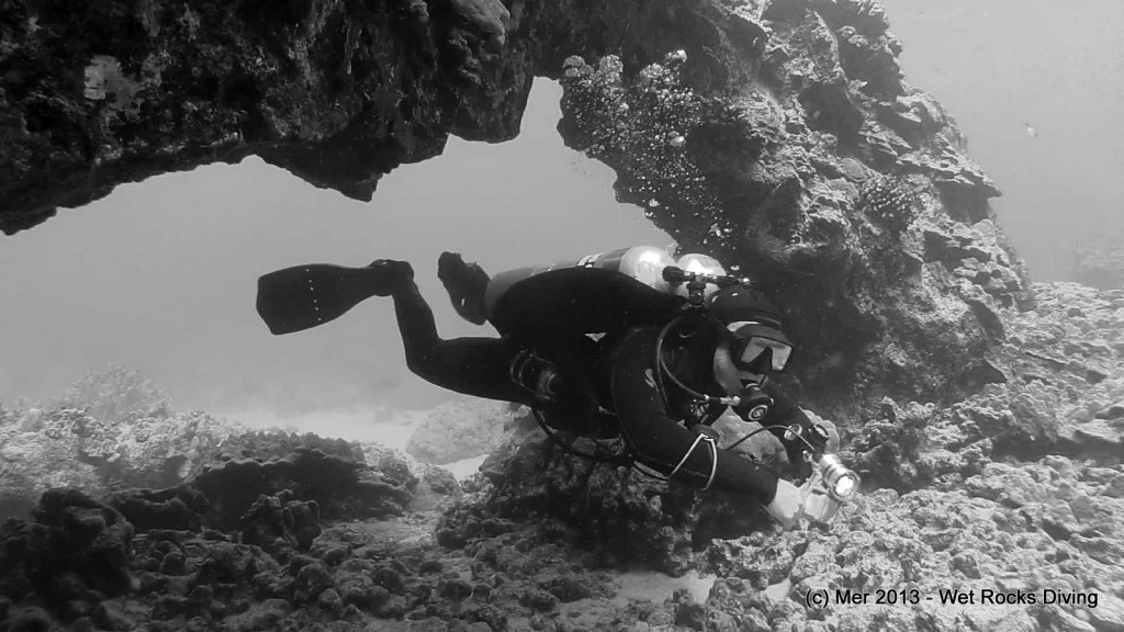 Nick enjoying the arches in the shallows